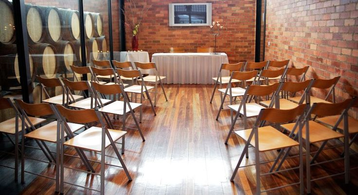 Our Barrel room is perfect for a small ceremony or bridal room