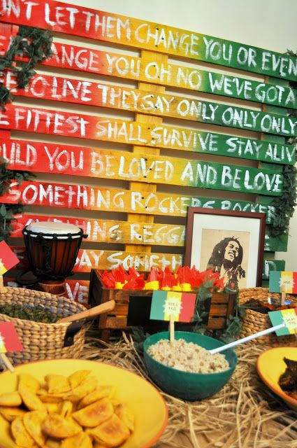 amaican Island Rasta Party from Bottle Pop Party Co - Food Display #pallets