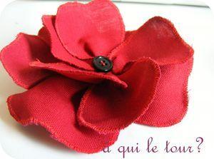 tuto fleur en tissu