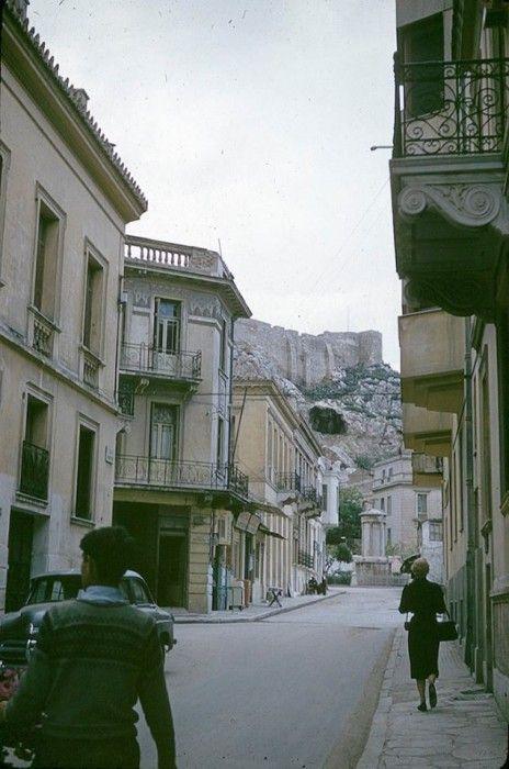 Αθήνα, Πλάκα, οδός Λυσικράτους, 1950s, ebay.