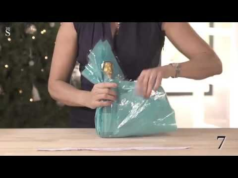 Gift wrapping made easy  How to wrap a bottle in 10 seconds
