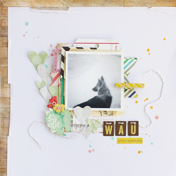 #scrapbooking page by Janna Werner - supplies by Crate Paper, Sizzix