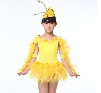Kids Girls Dress Chicken Costume Outfit for Animal Fancy Dress-in ...
