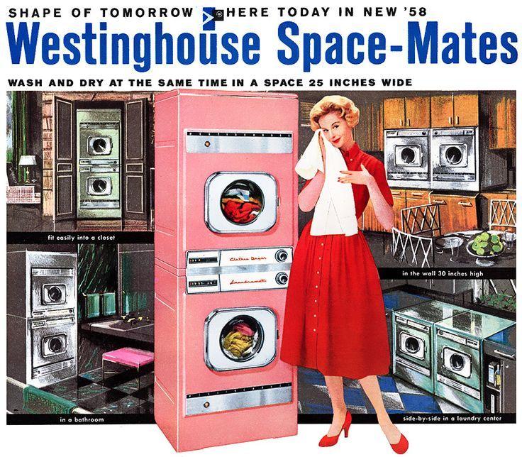... Space Mates - vintage pink ... | Vintage Laundry Rooms