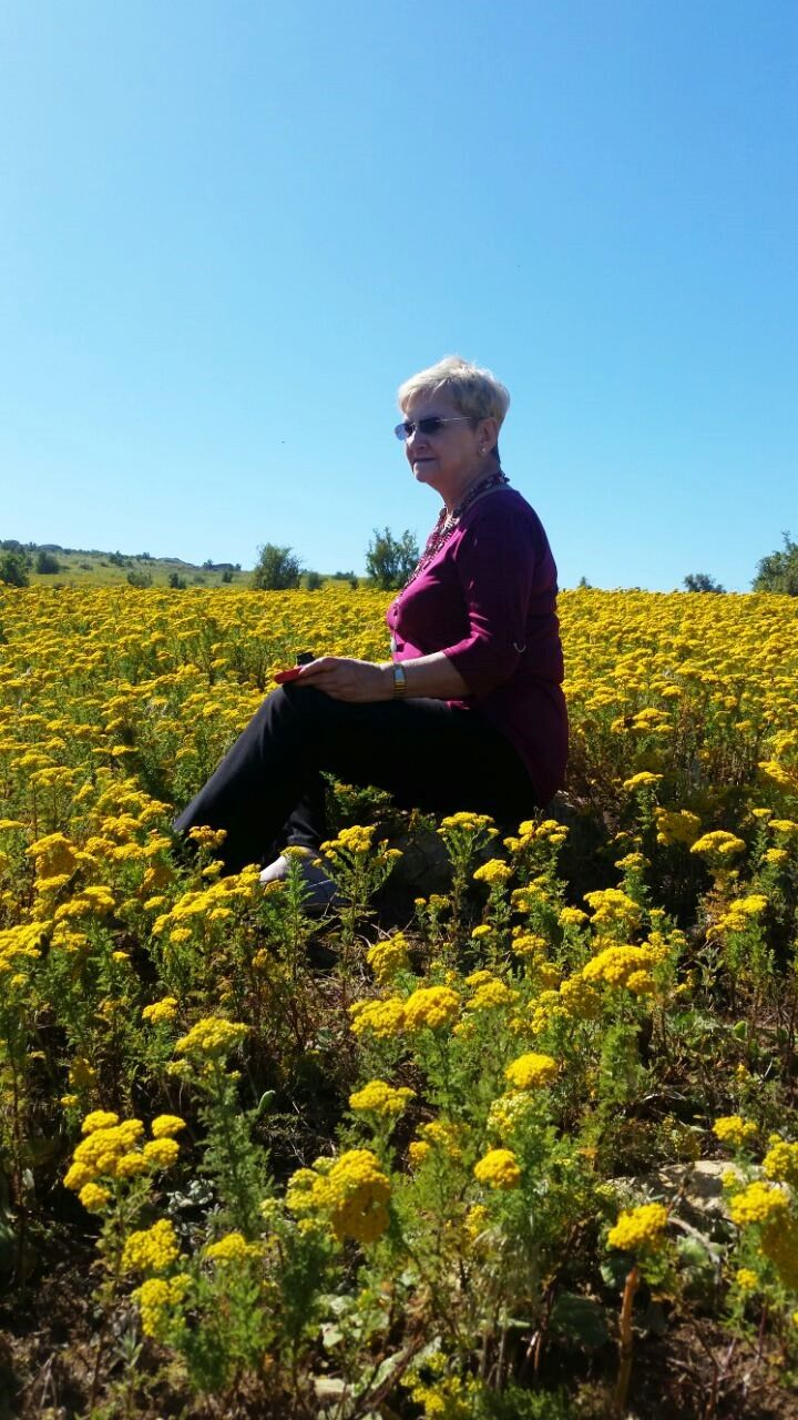 What beats sitting in a field of wild flowers?