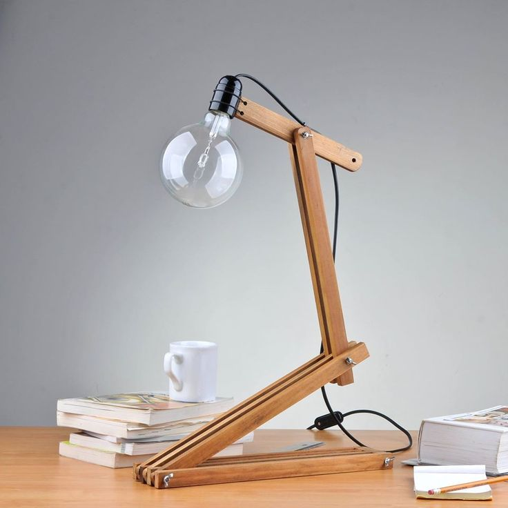 Amazing Number 5 Desk Lamp From Upcycled Sunshade Slats