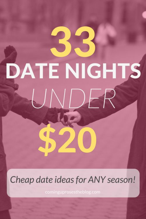 33 Date Nights UNDER $20 (Cheap Date Ideas for ANY Season!), cheap date night, cheap date night ideas, date nights under $20