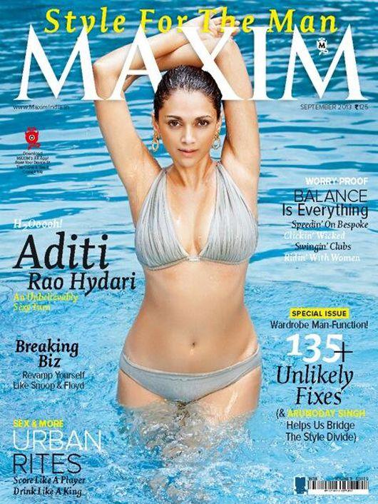 Aditi Rao Hydari Bikini Photoshoot for Maxim September 2013
