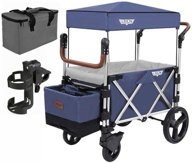 Keenz 7S Stroller Wagon (Blue) with Free Cell Phone Holder ...