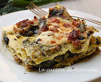 Lasagne con salsiccia e cavolo nero