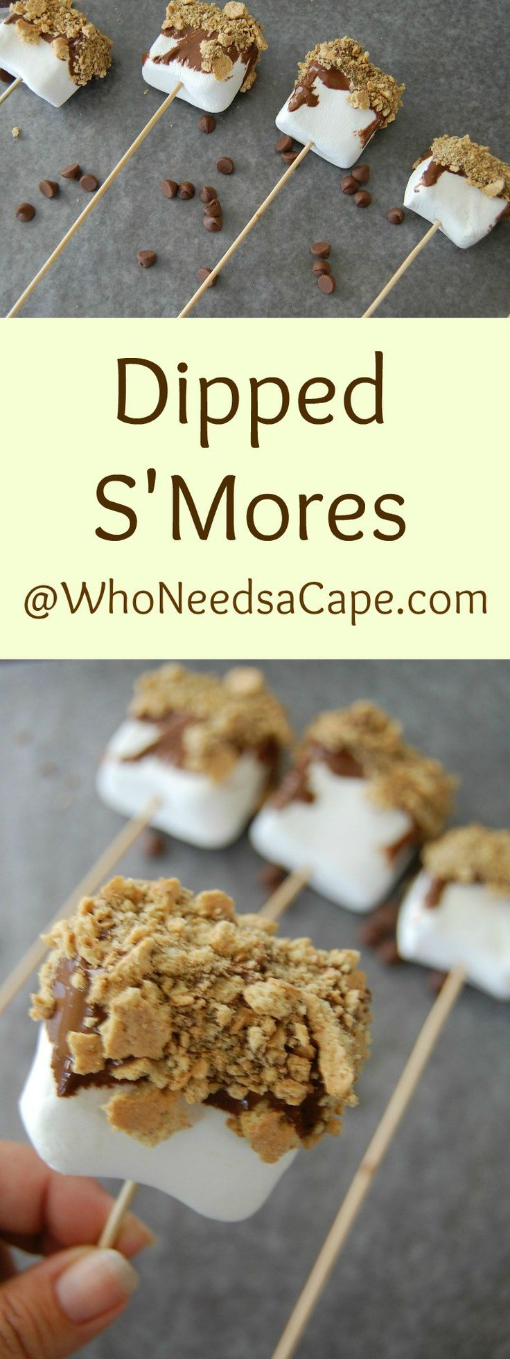 Dipped S'Mores are a super fun Summer Treat - easy to make and your kids can make them too! Perfect for family movie night! Who Needs a Cape? #ad #DataAndAMovie