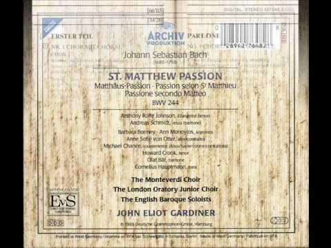 J.S. Bach: St. Matthew Passion BWV 244 Kommt, ihr Tochter, helft mir klagen: CHOR MIT CHORAL - YouTube
