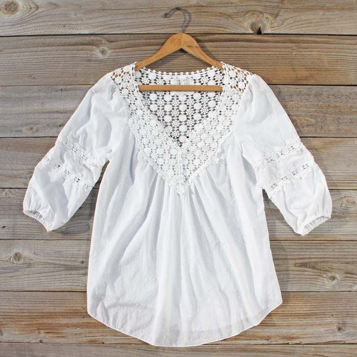 Sugared Breeze Blouse, Sweet Lace Tops & Blouses from Spool 72. | Spool No.72