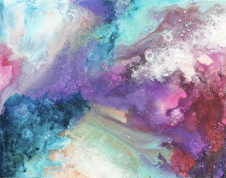 "Beautiful work of Morosoli Laura. ""Maailmankaikkeus"" Acrylics on canvas, 95 x 75 cm, 2016"