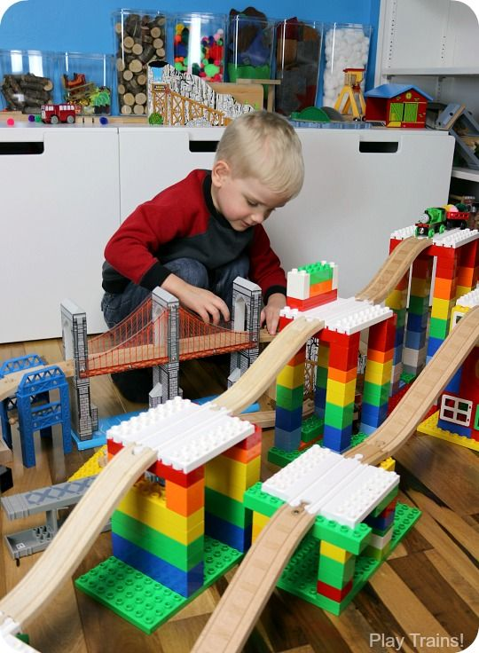 When Dreamup Toys sent us these building toys that connect wooden train tracks to interlocking building blocks to review, I knew they'd be cool, but I had no idea how they'd supercharge my son's creativity!