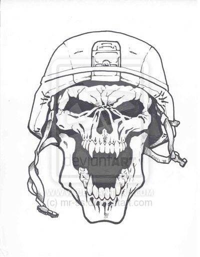 cool army drawings | ARMY SKULL by mr-ss on deviantART