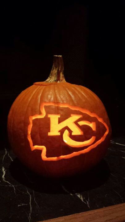 Kansas City Chiefs Pumpkin! https://www.fanprint.com/licenses/kansas-city-chiefs?ref=5750