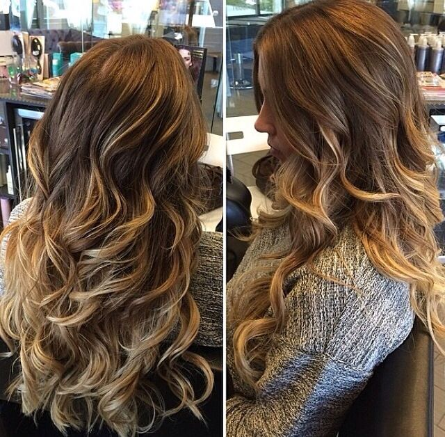 Gorgeous fall hair brown to carmel melt. #ombre | Cheveux ...