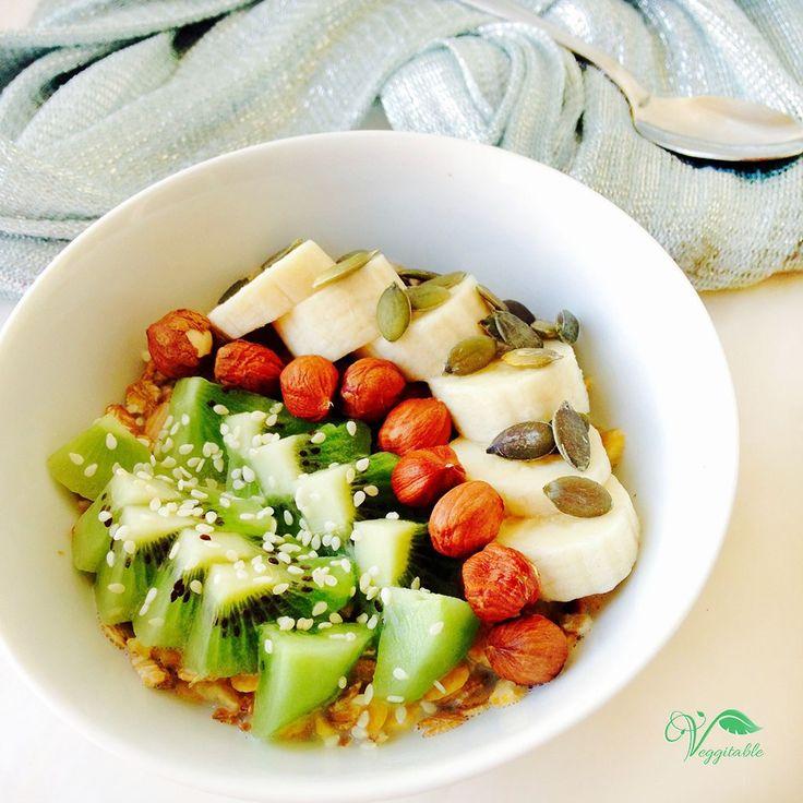 Flocos de Soja com Kiwi e Banana – Veggitable