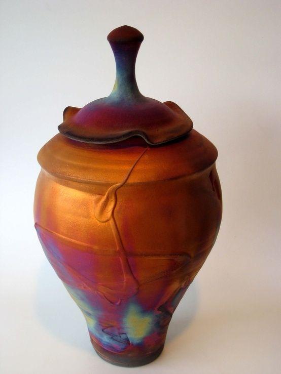 Copper Raku pottery designed by Kerry Gonzalez