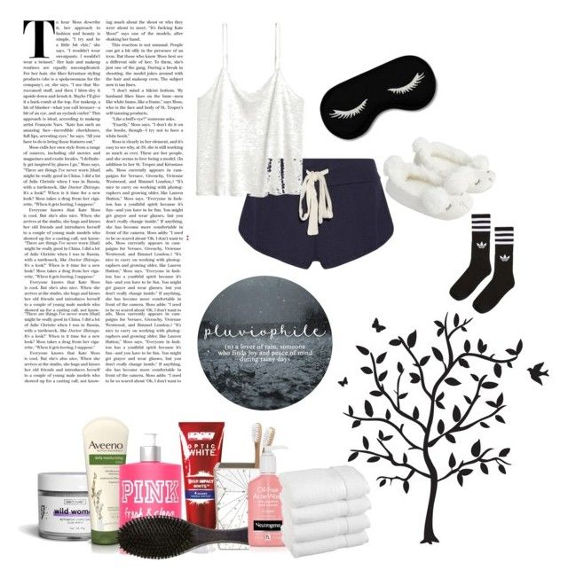 """I Cannot Sleep!"" by cominq ❤ liked on Polyvore featuring Godinger, Eberjey, Linne, Vanity Planet, Aveeno, Colgate, Pigeon & Poodle, Oribe, Accessorize and adidas"