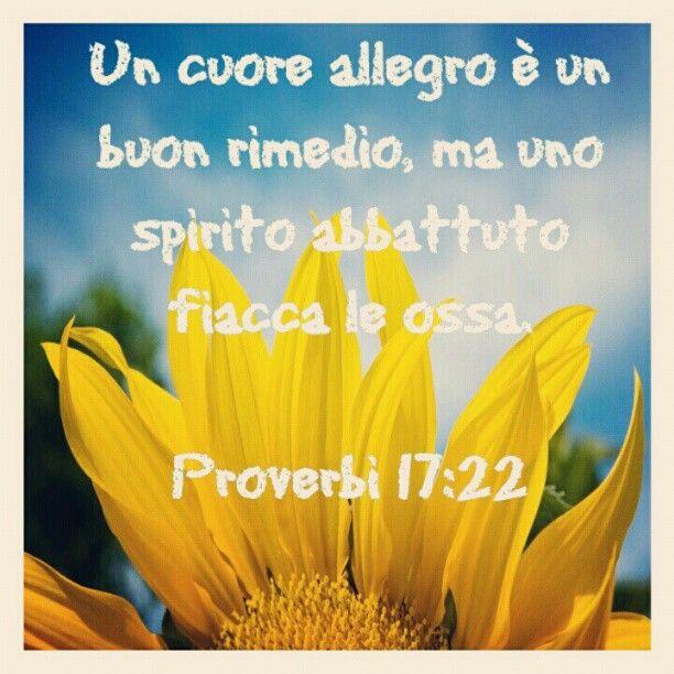 #allegria #sorriso #buonumore #proverbi #Bibbia #versetti #versettibiblici #radio #radiovocedellasperanza #roma