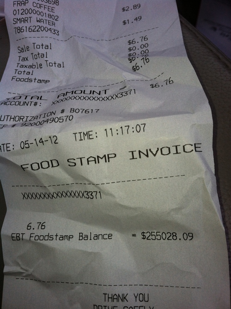 Found in a grocery store parking lot! Now that's a food stamp balance! Guessing they birthed a small country???