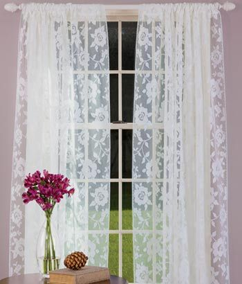 Garden Rose Lace Curtains From Country Curtains