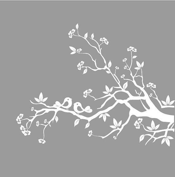 Vinyl wall decals nursery white tree branch by nurserywallart 59 99