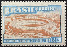 Sello de la  Copa Mundial 1950