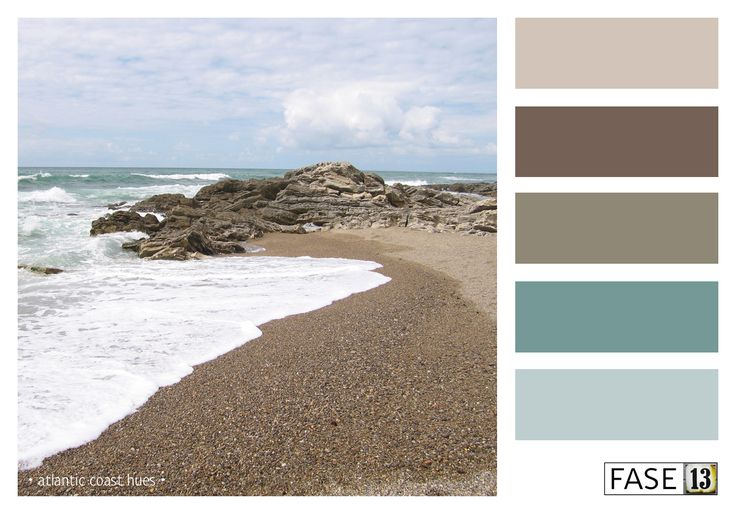 #blogpost Kleur voor je interieur! #colourinspiration palette of AtlanticCoast-hues by #fase13 ~ www.fase13.nl