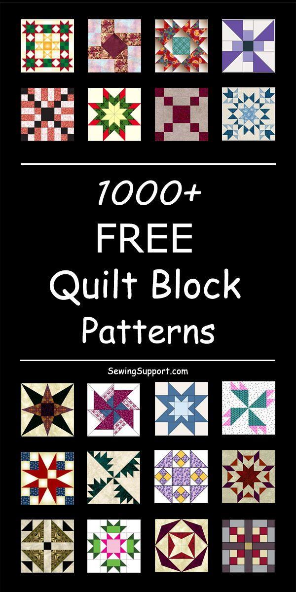 1000+ Free Quilt Block Patterns | Quilt block patterns free, Quilt