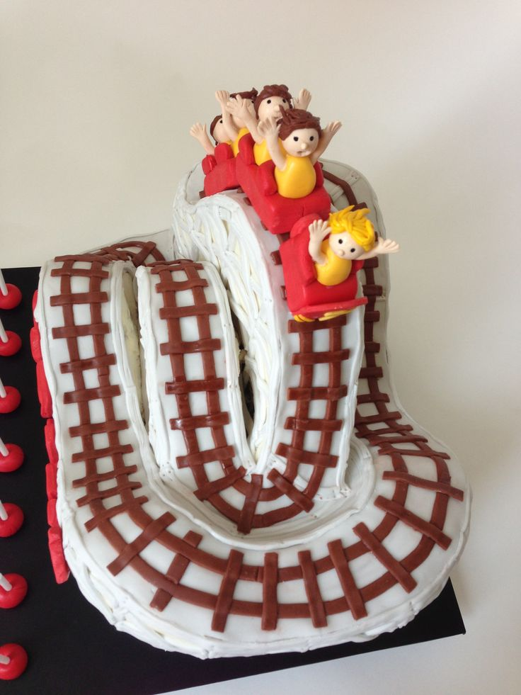 Coney Island Cyclone Roller Coaster Cake Side View