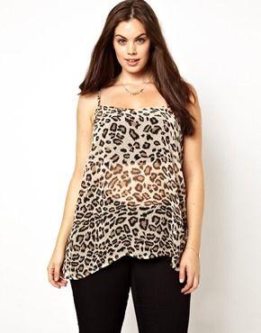 New Look Inspire Leopard Print Cami Top