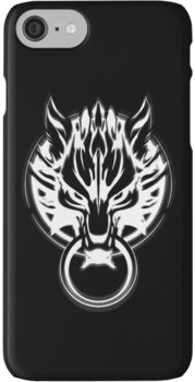 Cloud Strife's Wolf Emblem (White) iPhone 7 Cases
