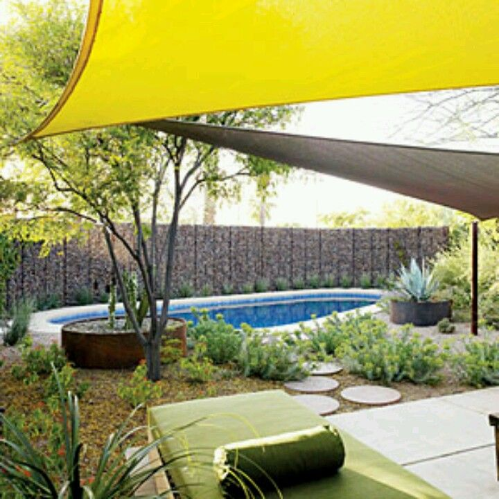 39 best images about shade sails on Pinterest | Gardens ... on Shade Sail Backyard Ideas id=29773