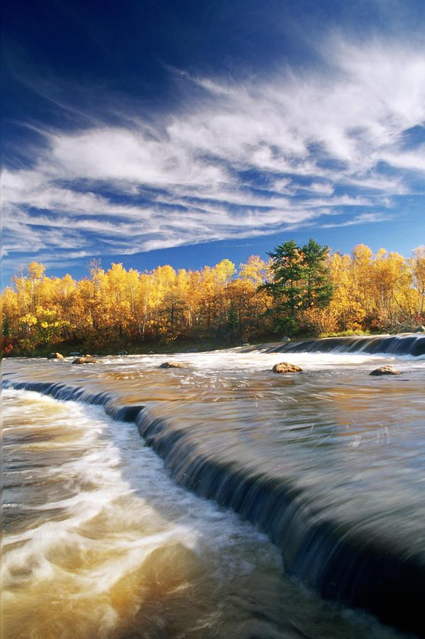 ✯ Fall Trees, Rainbow Falls, Whiteshell Provincial Park, Monitoba