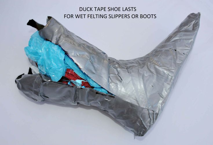 How to make Duck Tape Shoe Lasts on which to create Wet Felted Slippers or Boots