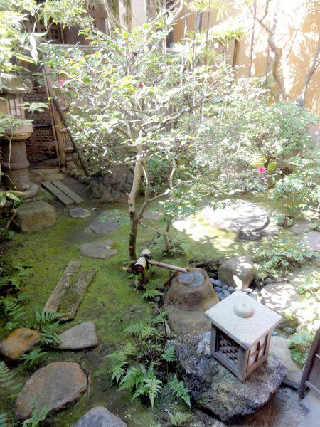 Japanischer Innengarten in Kyoto, Japan