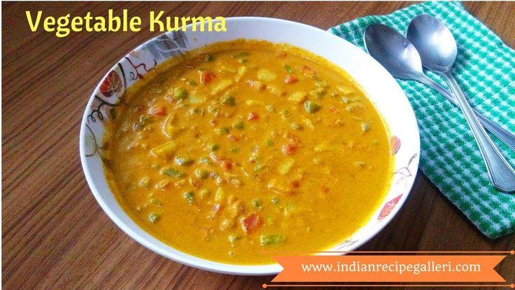 Mixed Vegetable Kurma Recipe (Mixed Veg Kurma) | Quick Kurma Recipe | Ve...