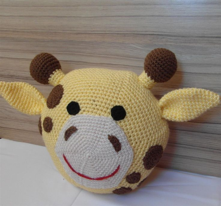Crochet Giraffe Pillow
