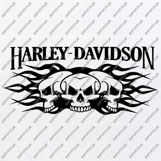 Harley Davidson Svg File Skull Harley Davidson Svg Design Clipart Tattoo For Motorcycle Harley Davitson Png Vector Graphics Svg For Cricut For Silhouette Svg In 2020 Silhouette Svg Svg Design Harley Davidson