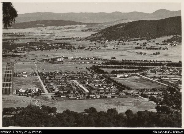 The view from Mount Ainslie, Canberra, [1930s] [picture]