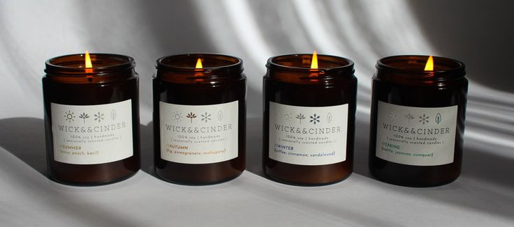 Wick && Cinder // Seasonally Scented Range ~small batch; handmade~ soy wax candles #wickandcinder #seasonal #summer #autumn #winter #spring #soycandle #candles #homedecor #homefragrance