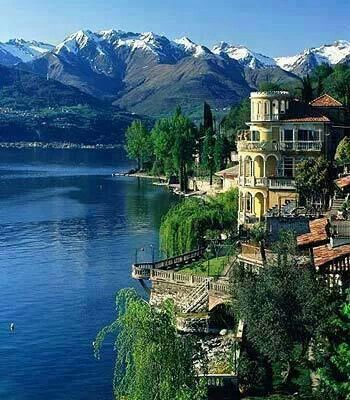 Lake Como, Italy..just beautiful..even on a rainy day.