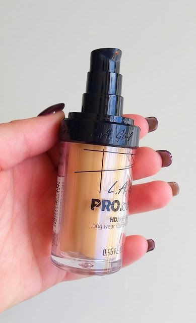 TESTED - L.A. Girl Pro Coverage HD High Definition Long Wear Illuminating Foundation