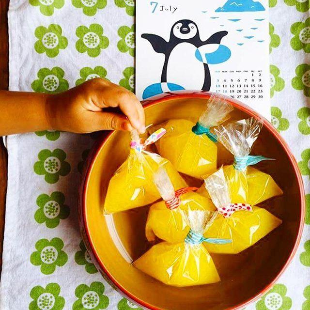 こども達が作ったパイン寒天と漆器。 キッズ向けお料理教室を開催されているイクタキッチンの風景。  Cooking School For Kid's @ IKUTA Kitchen July 2016 Fudanシリーズ_きょうかはち桃色   http://j-cocomo.jp