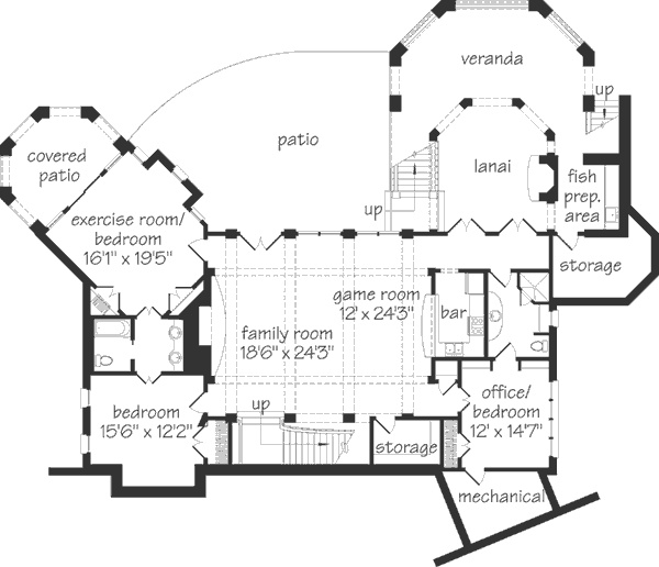 southern living oak glen walkout basement level home