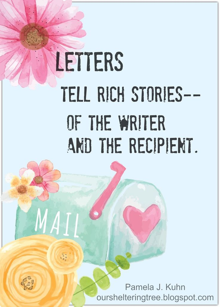 Writing letters is a lost art. Ideas how to make them interesting.