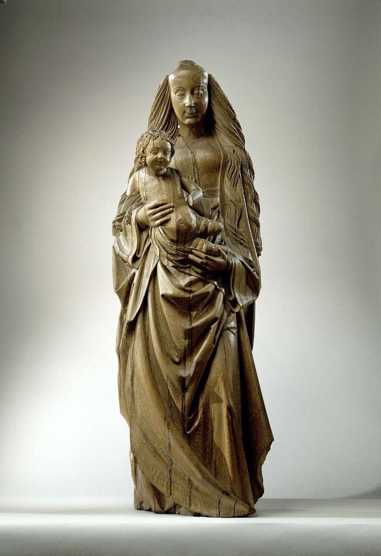 Vierge et l'Enfant, Attribué à Hendrick Douverman, ca 1510  chêne, h 120 cm. [sculpteur: Dries Holthuis = attribution rejetée /// sculpteur: Maître de Oud-Zevenaar = attribution rejetée]